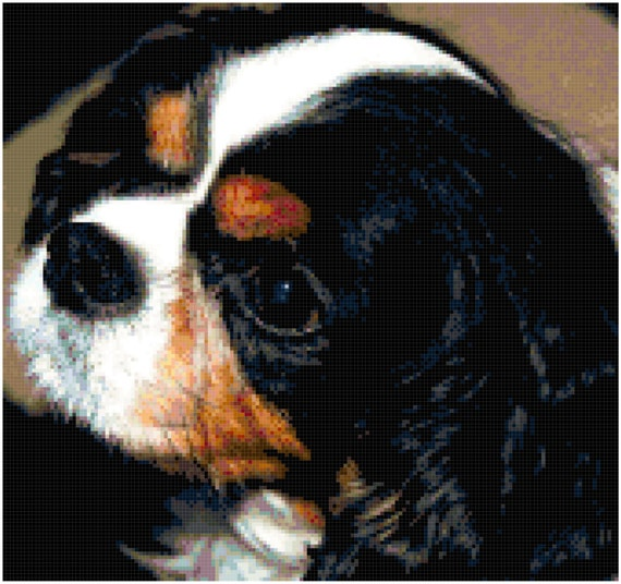 Cavalier King Charles Spaniel Counted Cross Stitch Pattern Chart PDF Download by Stitching Addiction