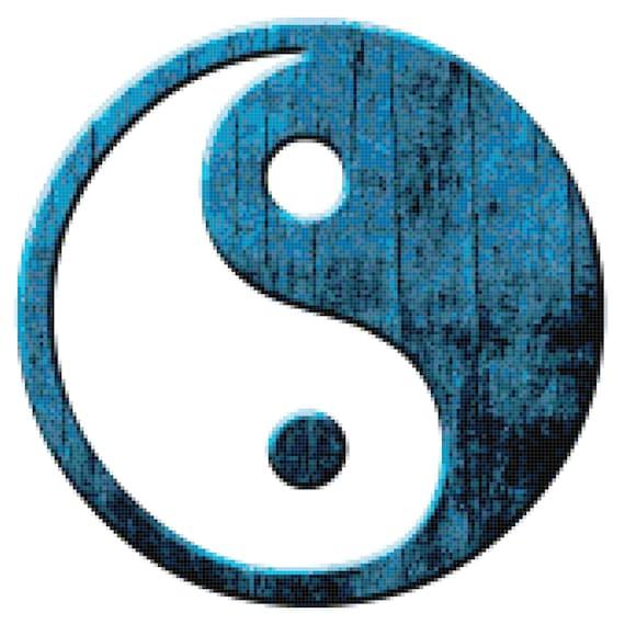 Yin and Yang Yinyang Yin-Yang Counted Cross Stitch Pattern Chart PDF Download by Stitching Addiction