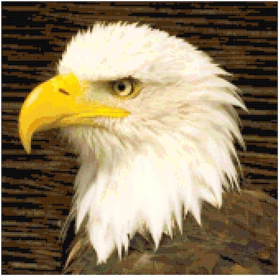 Bald Eagle Counted Cross Stitch Pattern Chart PDF Download by Stitching Addiction