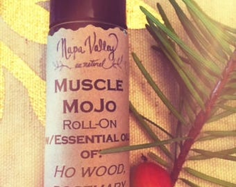 Muscle Mojo (in 1/3 ounce glass roll-on)
