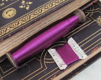 Silk-Mohair-Sparkle Thread on Handmade Balsa Wood Thread Winder