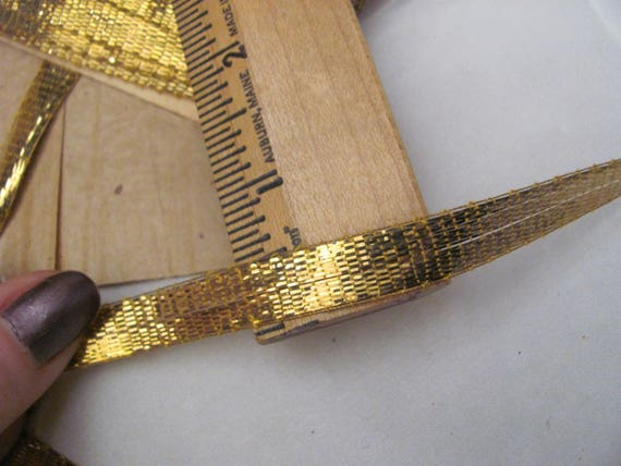 Antique French Metallic Gold Bronze Trim Made in France 1930/'s-40/'s BTY
