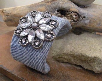 Denim Bling Cuff