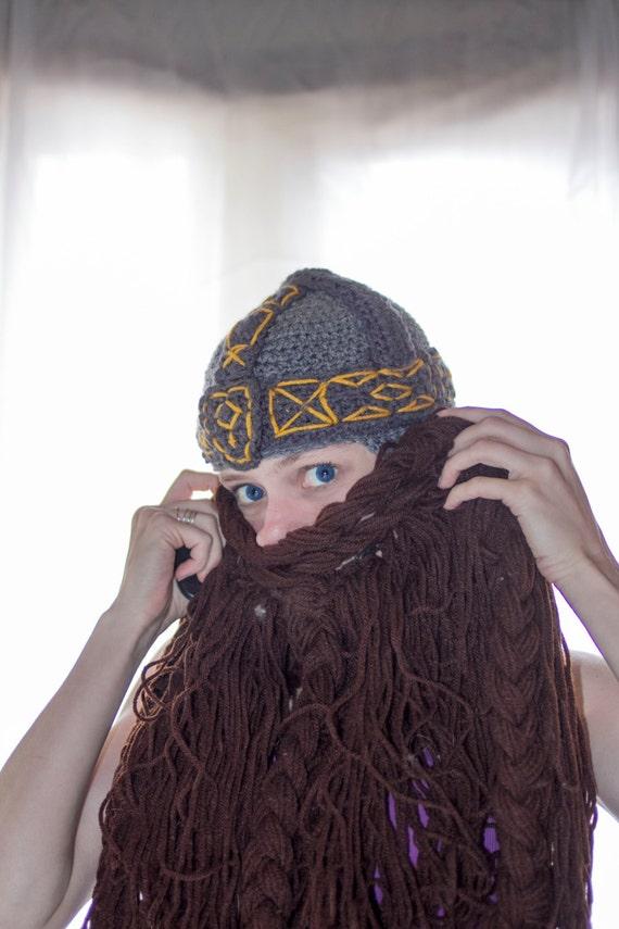 Zwergen-Helm häkeln Bart Hut   Etsy