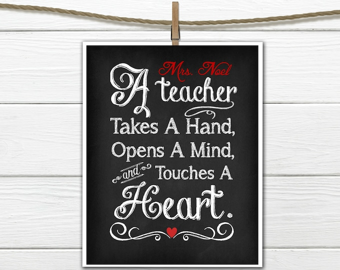 Teacher Appreciation Gift Print PDF Digital Download