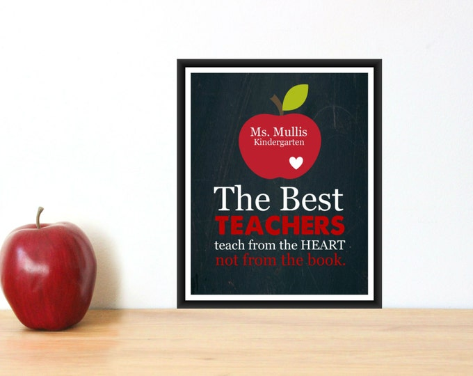 Teacher Appreciation Gift Custom Print PDF Digital Download
