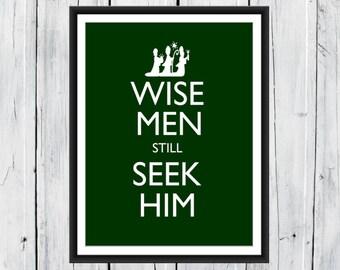 Christmas Print Wise Men still Seek Him 8x10