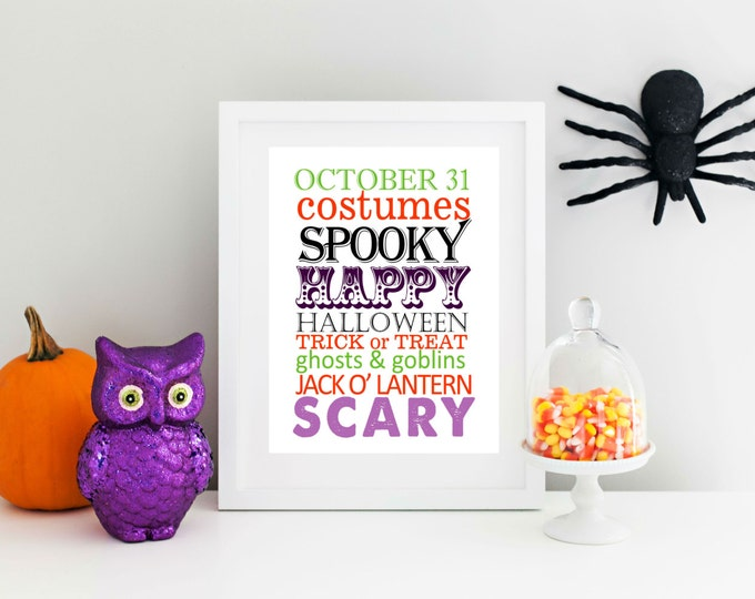 Halloween Decor - Halloween Printable -  Art  Instant Download Printable 8x10