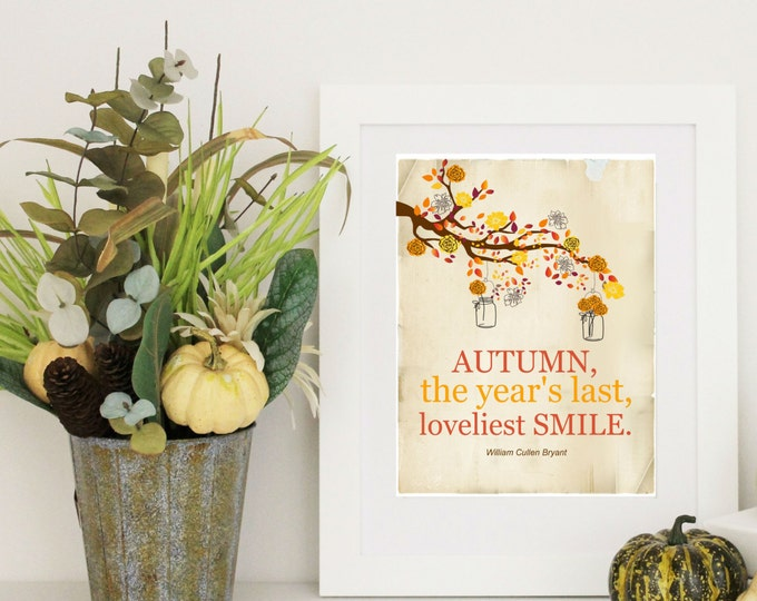 Autumn Seasonal Print - The Year's last Smile...