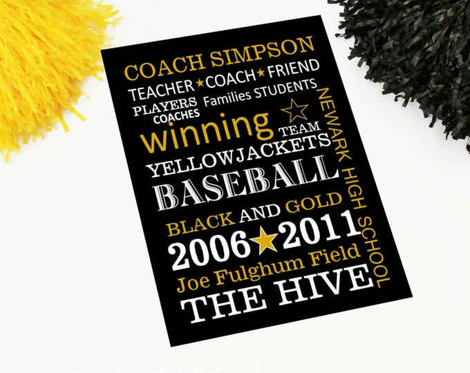 Coach Gift- Quick and Easy PDF Custom Personalized Coach Gift