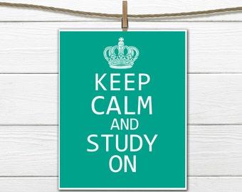 Keep Calm and Study On - any size - Printable PDF