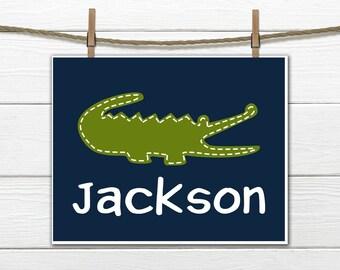 Alligator Nursery  - Alligator Print - Nursery Decor