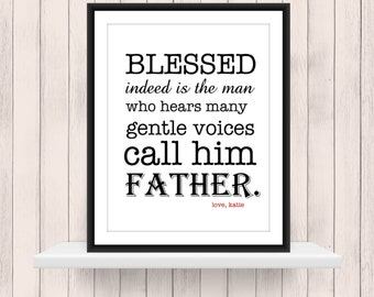 Quick & Easy Custom Gift for your Father 8x10 print digital PDF