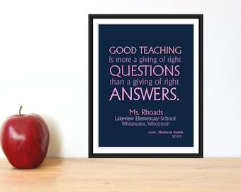 Teacher Appreciation Gift Print 8x10