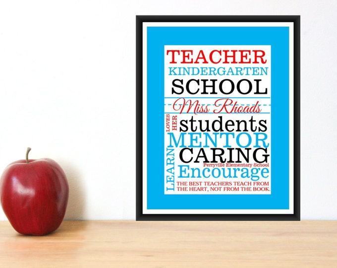 Teacher gift- Quick and Easy- Print Mailed