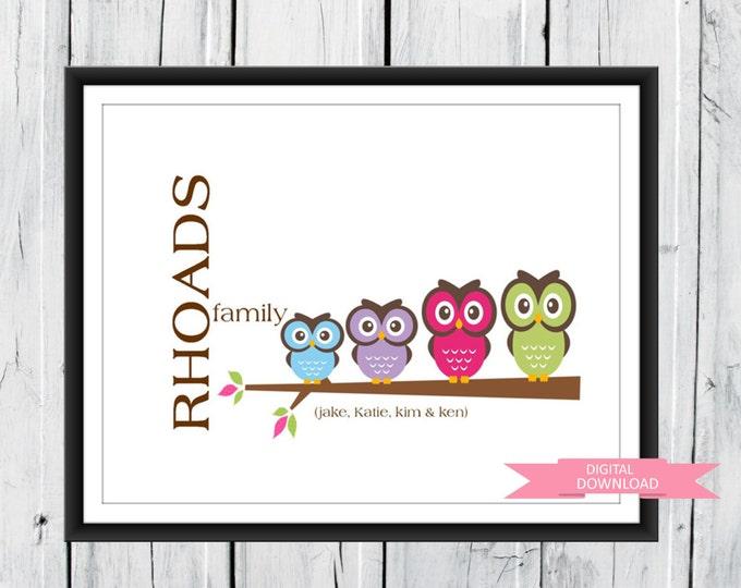 Owl Family Print PDF