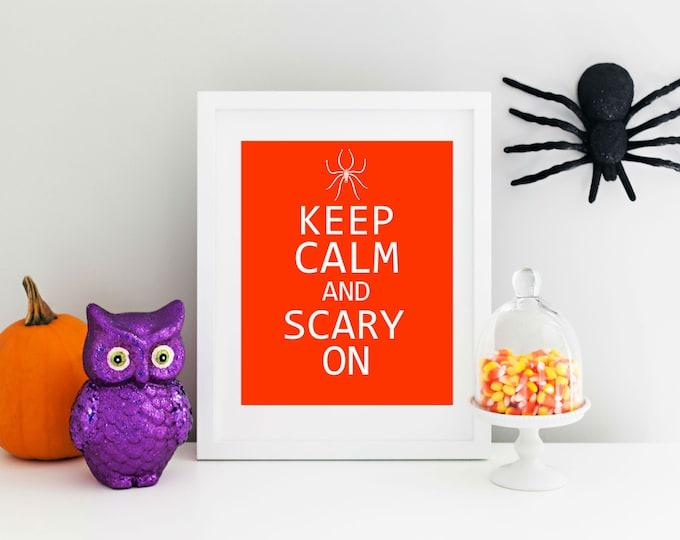 Halloween Decor - Halloween Printable -  Art  Instant Download Printable 8x10 - Purple