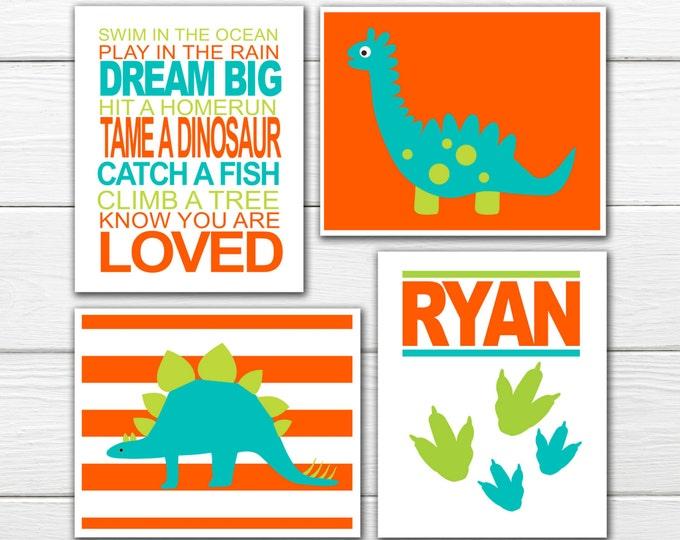 Dinosaur Nursery Decor -   Dino Theme Wall Art - Custom colors