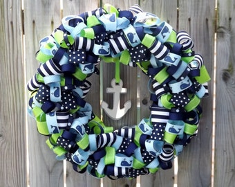 Nautical Whale Wreath