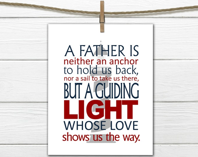 Father's Day Gift - Gift for Dad - Nautical Decor - Instant Download