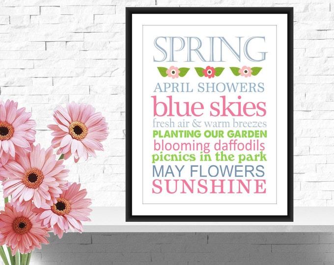 Spring Easter Print. Subway Art INSTANT Download PDF