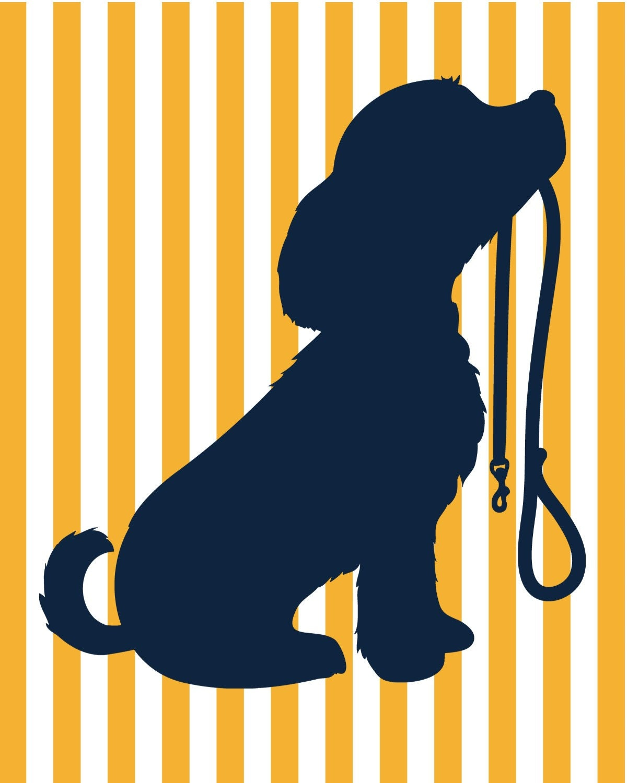 Puppy Dog Nursery - Custom Colors - Puppy Silhouette - Nursery Wall ...