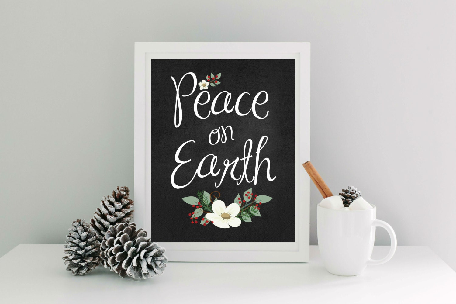 peace on earth instant download 8x10 chalkboard background