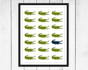 Alligator Nursery  - Alligator Print - Nursery Decor-