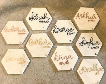 Marble Place Cards fro Weddings, Bridal Showers, Dinner Parties