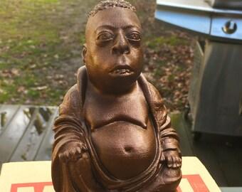 Howard Stern - Beetlejuice Zen Buddha - Fan Art Sculpture - Metallic Rust