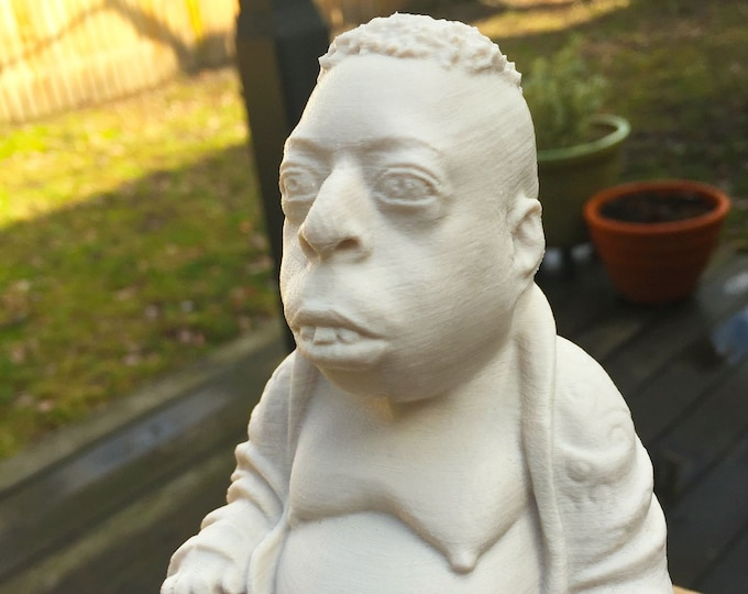 Howard Stern - Beetlejuice Zen Buddha - Fan Art Sculpture