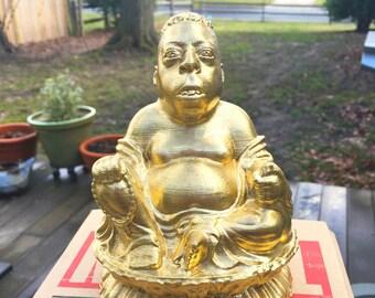 Howard Stern - Beetlejuice Zen Lotus - Fan Art Sculpture - Brilliant Gold