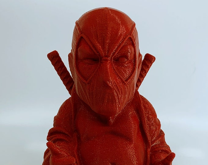 Deadpool Buddha w/ Unicorn Plushy Backpack (Crimson Red)