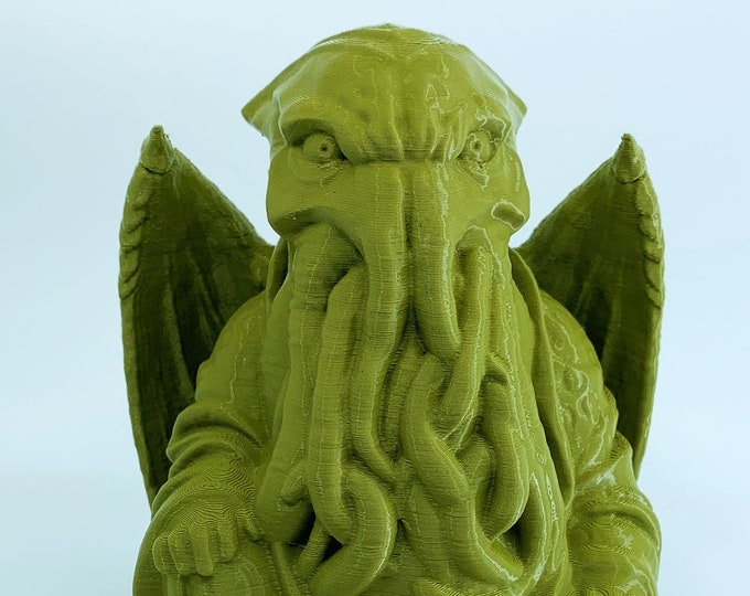 H. P. Lovecraft's Cthulhu Buddha | H. P. Lovecraft | Cthulhu Figurine | Novelty Gift | Mythos Creature | The Call of Cthulhu G.I. Joe Green