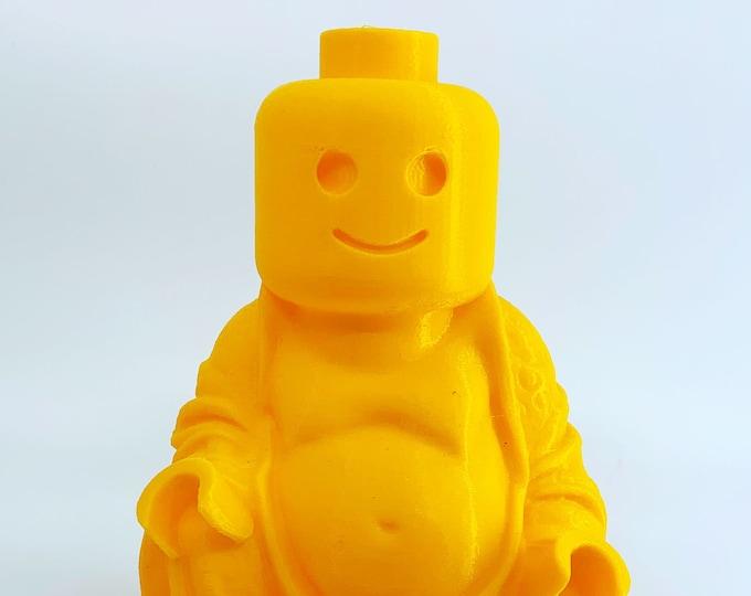Lego Art | Lego Gift | Lego Fan | Toy Art | Novelty Gift | White Elephant Party | Kids Room Decor | 3D Printed Lego Man Buddha