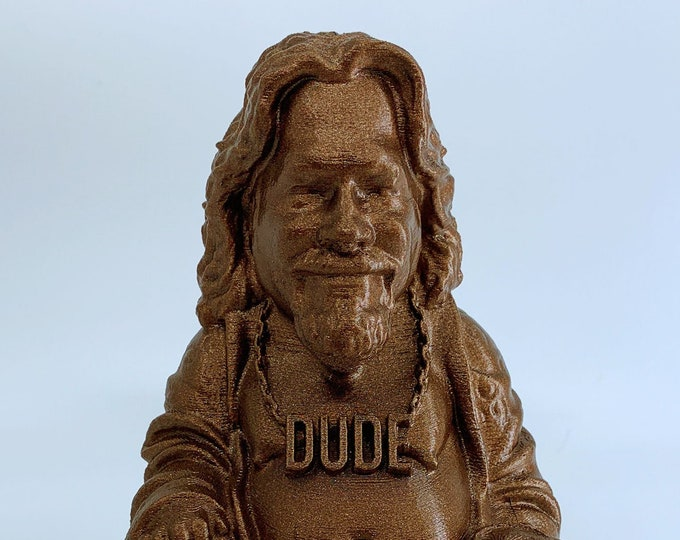 The Big Lebowski The Dude Buddha | The Big Lebowski | Novelty Gift | Gag Gift | Sarcastic Gift | Funny Gift | White Elephant Gift | Rust