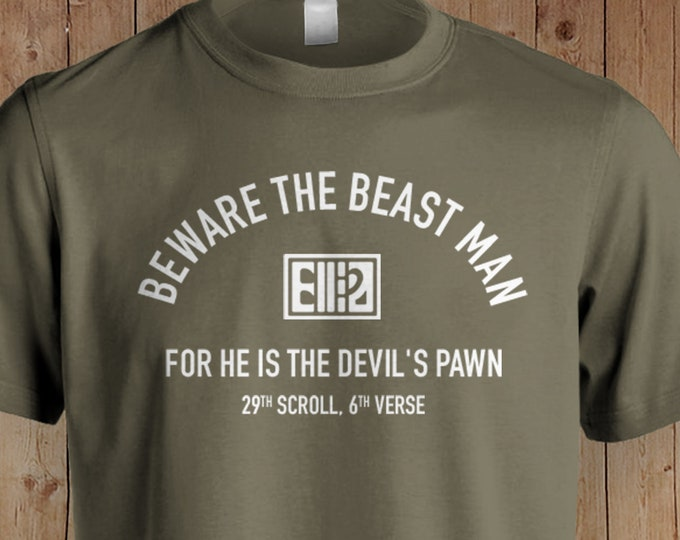Planet of the Apes T Shirt   Planet of the Apes Quotes   Movie Quotes Shirts   Planet of the Apes   1960's Movies    Beware the Beast Man...