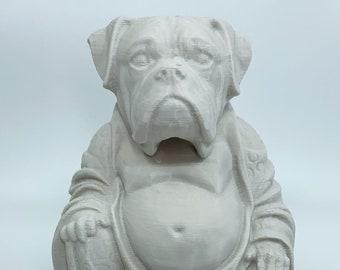 Boxer Dog - Buddha Statue (Desert Sand)