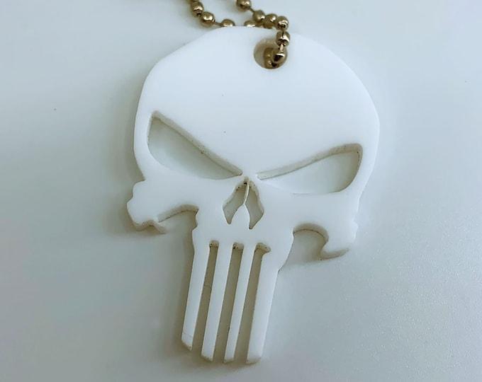Punisher Logo (White) - Keychain