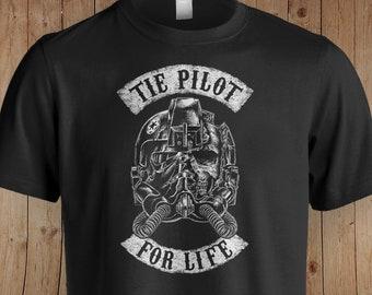 Tie Pilot Star Wars Inspired Shirt   Star Wars   The Mandalorian   Star Wars Gift   The Empire Strikes Back