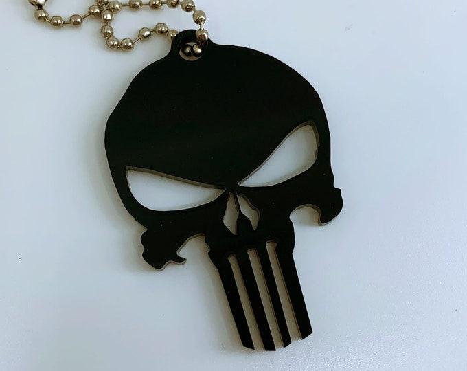 Punisher Logo (Black) - Keychain