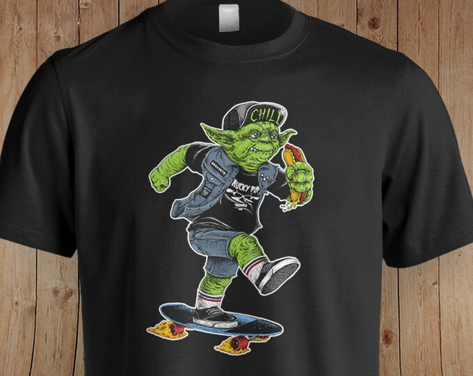 Yoda Skater Star Wars Inspired Shirt | Star Wars | Star Wars Gift | Skateboard