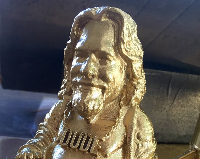 The Big Lebowski The Dude Buddha | The Big Lebowski | Novelty Gift | Gag Gift | Sarcastic Gift | Funny Gift | White Elephant Gift | Gold