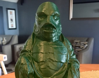 Creature from the Black Lagoon  Buddha (Hunter Green Satin)