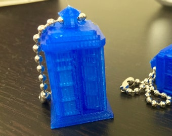 Tardis Call Box (3D) - Keychain