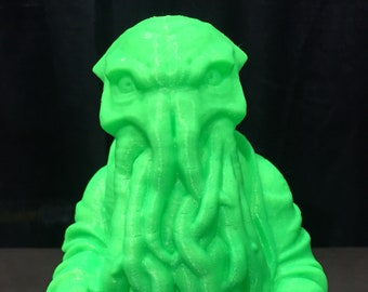 Cthulhu Buddha - Fan Art Sculpture -  Glow in the Dark Green