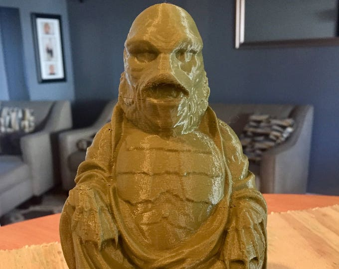Creature from the Black Lagoon  Buddha (Olive Green)