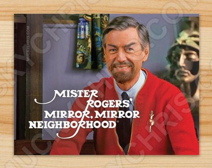 Mr. Roger's - Star Trek Mirror Mirror - Sticker
