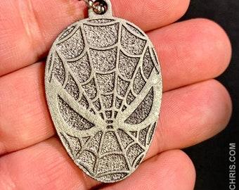Spiderman Logo (Dark Steel Look) - Keychain
