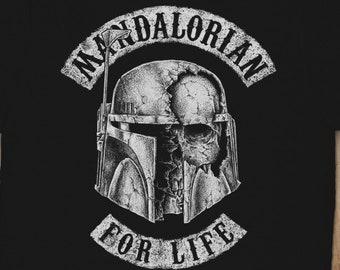 "Boba Fett ""Mandalorian for Life"" Tshirt"